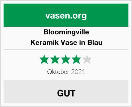 Bloomingville Keramik Vase in Blau Test