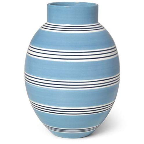 Kähler Designer Vase aus Irdengut Mittelblau