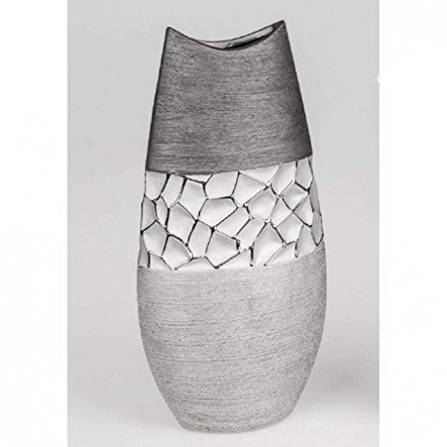 Formano Vase Silber-grau 35 cm