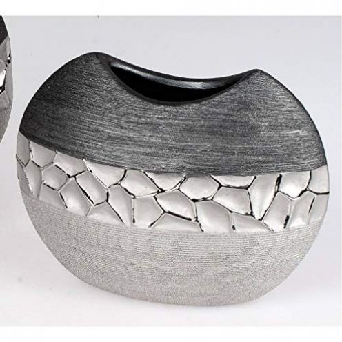 Formano Vase flach in Silber